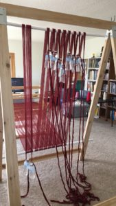 warping trapeze - adjusting the weights