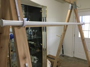 warping trapeze - top bar in first adjustable position