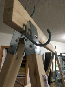 warping trapeze - hook for top bar top position
